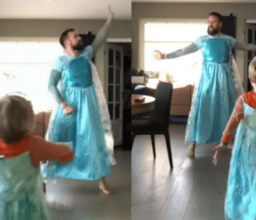 Padre complace a su hijo vistiendo de Elsa y bailando 'Let it go' [VIDEO]