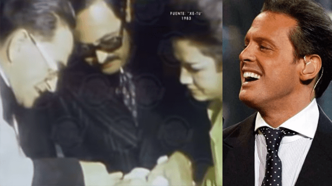 Video del bautizo de Luis Miguel se viraliza en Youtube   Fuente : Youtube